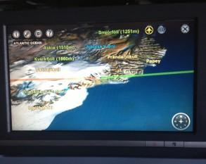Somewhere over Iceland...I think