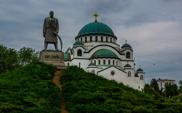 Statue and Cathedral